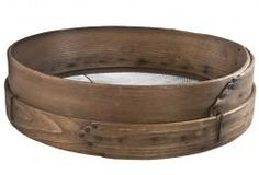 Large Antique Wood And Wire Grain Sieve/Sifter