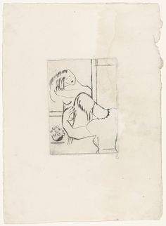 Louise Bourgeois - Morning, 1944 - Drypoint