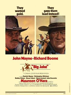 Big Jake John Wayne Cult Western Movie Film Poster Print Picture A4