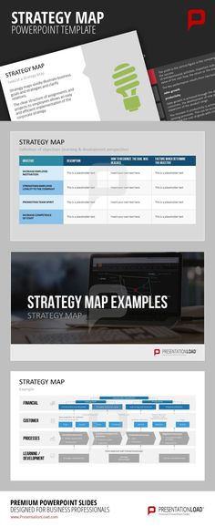 The Strategy Map visualizes management business plans by focusing on the four aspects of finances, customers, processes and development.