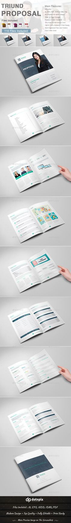 Triund Proposal — Vector EPS #app #proposal code • Available here → https://graphicriver.net/item/triund-proposal/9713121?ref=pxcr
