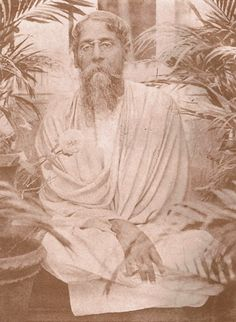 Rabindranath Tagore at the time of writing Bengali Gitanjali