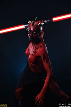 Darth Maul - Fight Me -  Star Wars Horrify Me, horror photography and portraits of rotting zombies, evil vampires, demonic demons, dark erotic beauty and boudoir, hanged victims, human autopsy, gross blood and gory concepts, horror icons and much more. www.horrify.me.uk