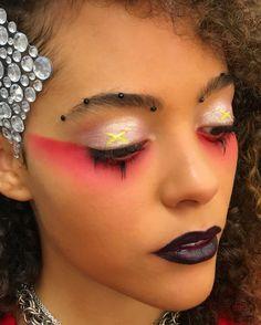 ❌🔆💠 T H E M U S E 💠🔆❌ @q.uintessa kills this look and I have to say this may be the closest representation of my personal style as an… Rave Makeup, Goth Makeup, Makeup Inspo, Makeup Inspiration, Makeup Tips, Makeup Ideas, Sfx Makeup, Makeup Art, Black Girl Makeup