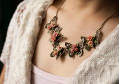 Hey, I found this really awesome Etsy listing at https://www.etsy.com/listing/192011284/butterfly-and-rose-necklace-polymer-clay