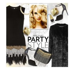 Topshop New Year's Party Style by beebeely-look on Polyvore featuring Topshop, NewYears, topshop, partydress, festive and partystyle