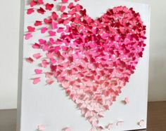 #Hearts #ombre #butterfly #diy #pink