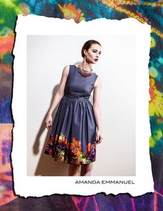 Amanda Emmanuel - Autumn/Winter 2012    AXINITE - Full-Skirted Cotton Dress    http://www.amandaemmanuel.com/collections/shop/products/axinite    Exclusively available at Ursula B www.ursulab.com