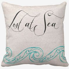 cotton beach pillow lost at sea cotton and burlap pillow cover via etsy
