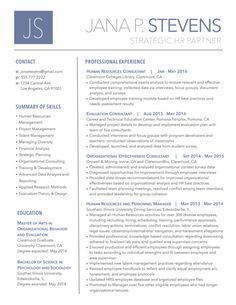 One Page Resume Template Free Download One Page Resume Template Free ...