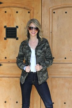 Shop Jess Lea Boutique Cassie Camo Cargo Jacket  #jesslea #jessleaboutique #jessleastyle #casualstyle #momstyle #casualoutfit #easyoutfit #ootd #boutique #boutiquestyle camojacket #cargojacket #camojacketoutfit #bloggerstyle #falloutfit #fallinspo Sweater Outfits, Casual Outfits, Lace Trim Shorts, Leopard Scarf, Cargo Jacket, Chambray Top, Camo Print, Mom Style, Boutique Clothing