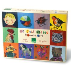 Memory-spel Nathalie Lete in een houten doos, Vilac