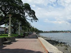Rizal Boulevard in Dumaguete City, Philippines; incredible at night! Visayas, Philippines, The Incredibles, City, World, Beach, Places, Water, Travel