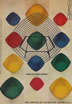 Dreamy Harry Bertoia chairs, 1962