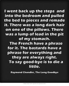 Raymond Chandler, The Long Goodbye Raymond Chandler Quotes, Film Noir Photography, The Long Goodbye, Pulp Fiction Art, Long Dark Hair, Meaningful Words, Powerful Words, Shadows, Google Search