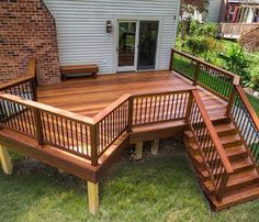 Pretty deck with angles | Cumaru hardwood