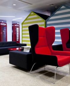 google office decor impressive naughtone in the google office lounge reception seating walls 111 best offices images design offices decor