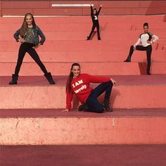 Maddie Ziegler, Mackenzie Ziegler, Kendall Vertes and Nia Frazier Mackenzie Ziegler, Maddie Ziegler, Maddie And Mackenzie, Kendall Vertes, Abby Lee, Dance Mums, Brooke Hyland, Famous Dancers, Dance Dreams