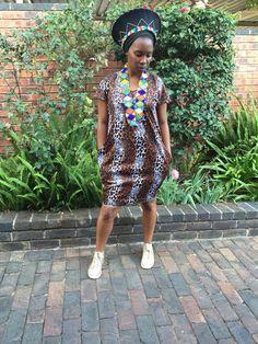 Zulu Print Tshirt Dress #SunshowerLove