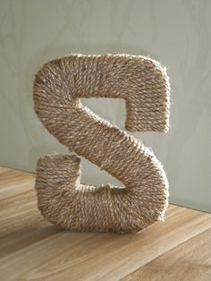 Rope wrapped letter