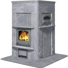 TLU2490/91 - Tulikivi Soapstone Fireplace
