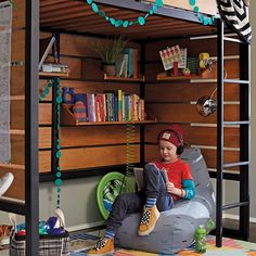 Having a bedroom with a stylish bed and plenty of floor space shouldn't be a lofty request.  The Land of Nod's Tall Order Loft Bed not only features clean lines and beautiful construction, but its raised design gives you plenty of space underneath.