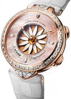 Christophe Claret Margot Rose Gold Pieces D'Art EMT17 - швейцарские женские часы наручные, золотые с бриллиантами, оригинальные, дизайнерские, арт