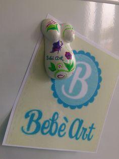 Mini Babybauchabdruck als Magnet  niedliche 5cm misst der Winzling