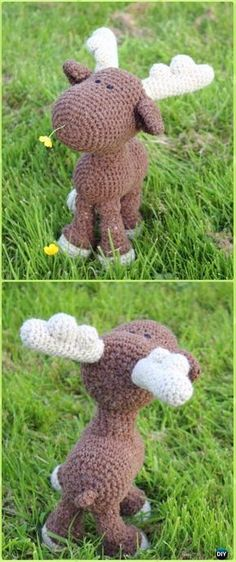 Amigurumi Crochet Mr. Moose Free Pattern - Crochet Moose Free Patterns