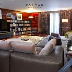 A tour in the #Bulgari Suite in #London. #bulgarihotel #design