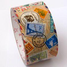 Large deco tape. Pattern: Stamp.Postmark.