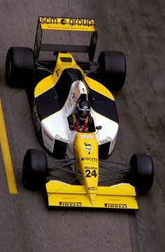 Paolo Barilla (ITA) (SCM Minardi Team), Minardi M190 - Ford-Cosworth DFR 3.5 V8 (finished 14th) 1990 Mexican Grand Prix