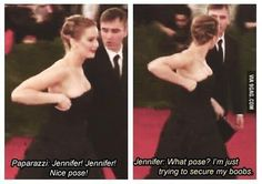 Just Jennifer Lawrence being herself as usual
