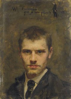 Emile Friant (French, 1863-1932), Autoportrait. Oil on cardboard, 18.3 x 13.2 cm.
