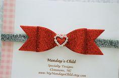 Valentine's Day Baby Headband Valentine's Day by MyMondaysChild