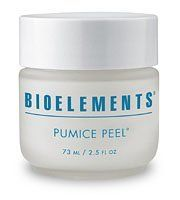 Bioelements Pumice Peel (2.5 oz) by Bioelements. $37.60. No artifical colorants, synthetics fragrance or animal by-products. Not tested on animals.. Manual microdermabrasion treatment. Exfoliants. Contains refined white pumice crystals, emollient hydrogenated polydecene, ginseng extract and antioxidants. Removes dead cell layers and accelerates the turnover of fresh new cells to stimulate collagen and elastin within the skin. Made with ultra-fine white pumice c...