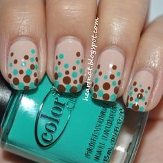 Adorable polka-dots in spring colors!
