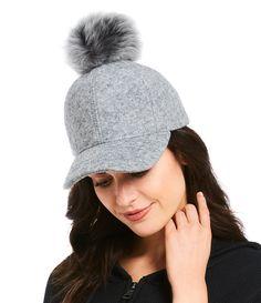 6ad0155d56508 UGG® Shearling-Pom Baseball Hat
