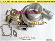 418.59$  Buy here - http://aliyk2.worldwells.pw/go.php?t=676647773 - Dual Ball bearing Turbo GT2871R GT2871SR 743347-0001 743347 Turbine For Vehicle Tuning 1.8L-3.0L 250-400HP Turbocharger gaskets 418.59$