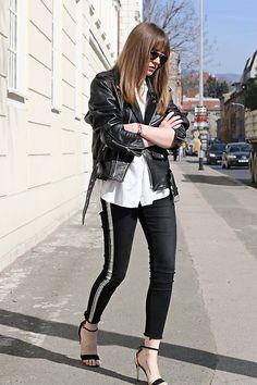 Marina Abramovic -  - Striped pants