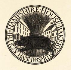 Eric Gill, 'Hog and Wheatsheaf' 1915