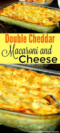 Four Kitchen Decorating Suggestions Which Can Be Cheap And Simple To Carry Out Double Cheddar Macaroni And Cheese Macaroni Cheese Recipes, Pasta Recipes, Cooking Recipes, Cheddar Cheese Recipes, Baked Macaroni, Cheesy Recipes, Top Recipes, Side Dish Recipes, Side Dishes