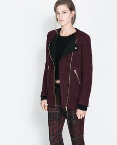 ZARA - WOMAN - JACKET WITH CONTRASTING LAPEL $59.99 from $139