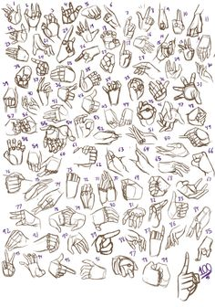 100 Hands Practice by JakeNova.deviantart.com on @deviantART