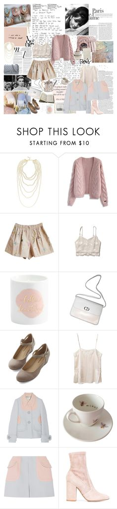"""grace"" by my-pink-wings ❤ liked on Polyvore featuring Chanel, ASOS, Whiteley, Kenneth Jay Lane, Chicwish, Abercrombie & Fitch, Christian Dior, Mes Demoiselles..., Miu Miu and Outlandish Creations"