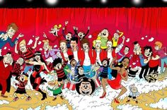 Celebrity faces appear in Red Nose Day Beano