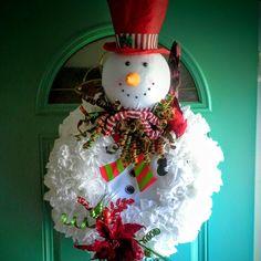 Mr.Snowman wreath