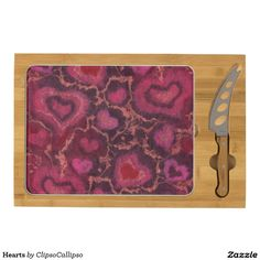 Hearts Rectangular Cheeseboard 15% OFF ALL ORDERS     Grab Everything You Need This Winter!     Shop Now     Ends Tomorrow!     Use Code: ZAZZLEWINTER   #valentine #happyvalentine #hearts #burgundy #pink #red #coral
