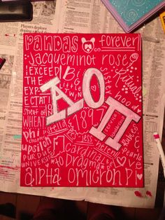 I like this idea except with Alpha Xi Delta words and colors.