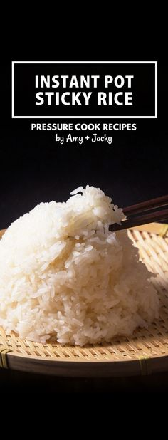 Instant Pot Pressure Cooker Sticky Rice (no soaking required!) by Amy + Jacky Instant Pot Sticky Rice Recipe: Quick & easy way to make Perfect Pressure Cooker Sticky Rice (Glutinous Rice) with no soaking. via Amy Jacky Japanese Sticky Rice, Sweet Sticky Rice, Sticky Rice Recipes, Jacky, Pressure Cooking Recipes, Pressure Cooker Desserts, Good Food, Yummy Food, Pots